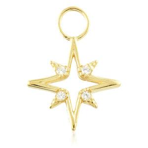 'North Star' - Gold Huggie Charm - TISH LYON®
