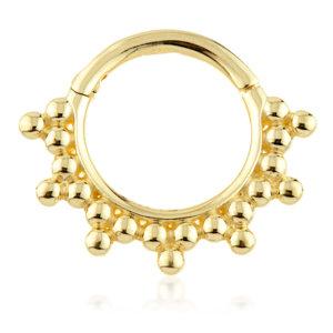 Trinity Beaded Hinge Ring -  TISH LYON®