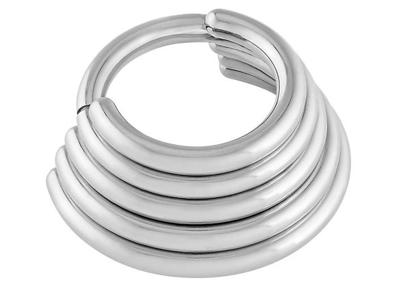 Five Tier Stacked Hinged Ring