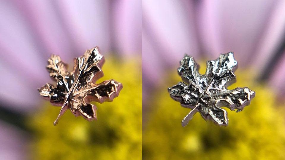 Anatometal Maple Leaf - Internally Threaded Decorative Attatchment
