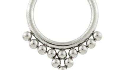 Titanium Beaded Arrow - Hinged Segment Ring