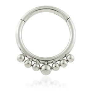 Titanium Micro-Beaded  - Hinged Segment Ring