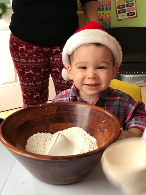 Gingerbread Cookie Baking