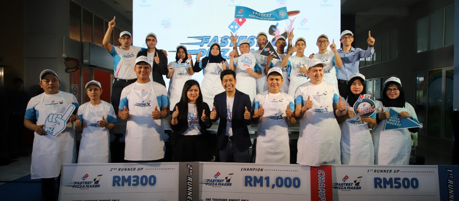 Speedy Wanli Crowned Fastest Pizza Maker in Malaysia 2019