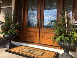Beautiful front entrance planters