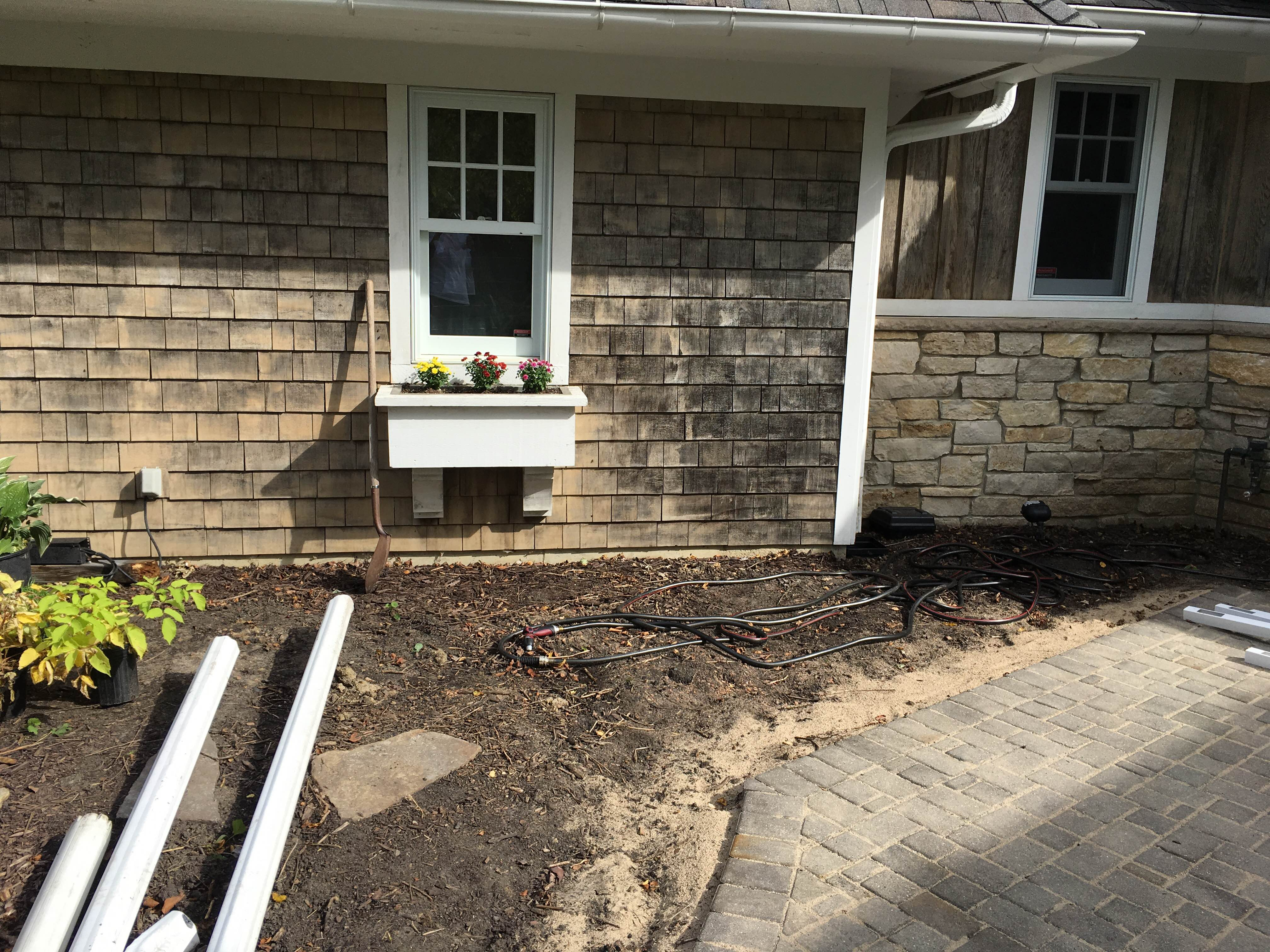 A late Fall perennial garden install