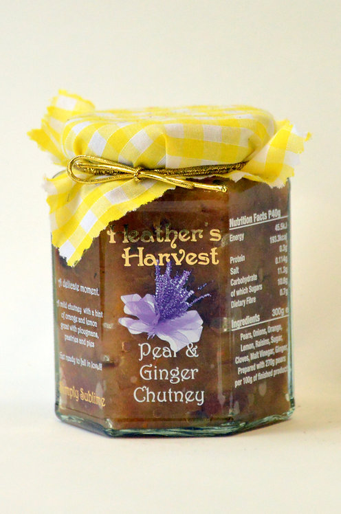 Pear & Ginger Chutney Mini Jar 100g