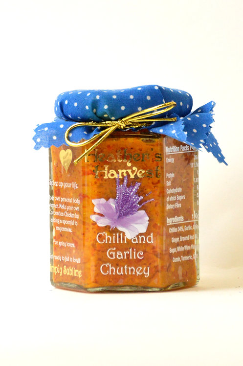 Chilli & Garlic Chutney, (Contains Chilli )