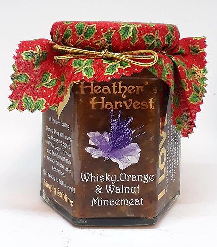 Whiskey, Orange & Walnut Mincemeat, (Contains alcohol , NUTS & butter)