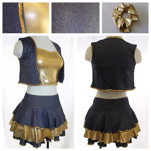 Denim and Gold Costume