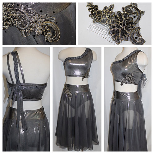 Metallic Grey Two Piece Costume