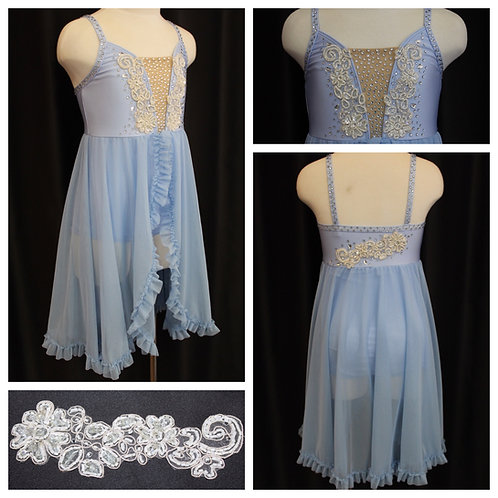 Baby Blue Lyrical Costume