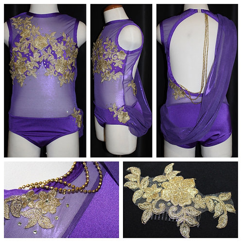 Purple and Gold Lyrical Costume