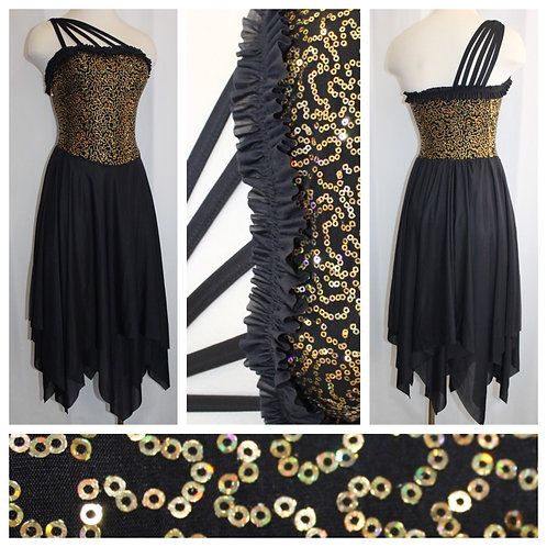 Black and Gold Lyrical Costume