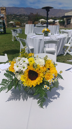 Flowers- Wedding Centerpiece- Yellow and white