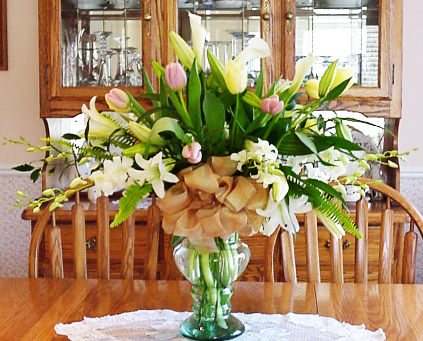 Lillies, Tulips & Orchid Arrangment