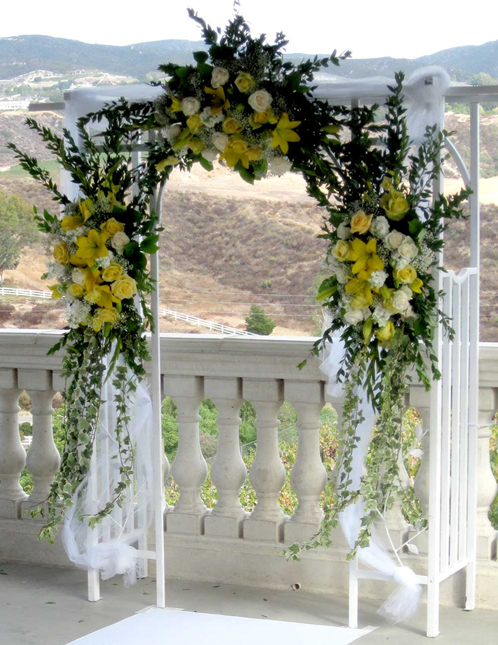 Archway with Yellow Flowers