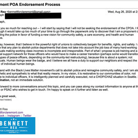 CPOA Endorsement Request