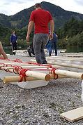 Teamentickung, Flossfahren, GreatOutdoor Austria, Flossbau