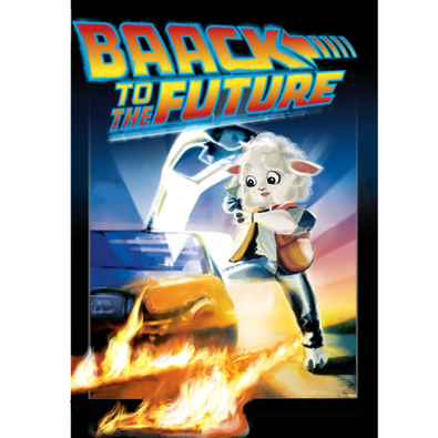 it is a parody poster of the movie Back to the Future for the short film A Wolf in Sheep's Clothing