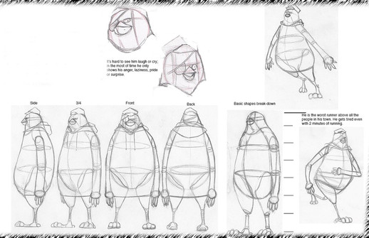 Character design for the story, Quack & Quack