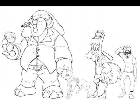 A character design for the story, Quack & Quack
