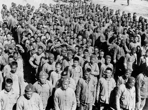 Travailleurs chinois au camp de Nolette (Somme).
