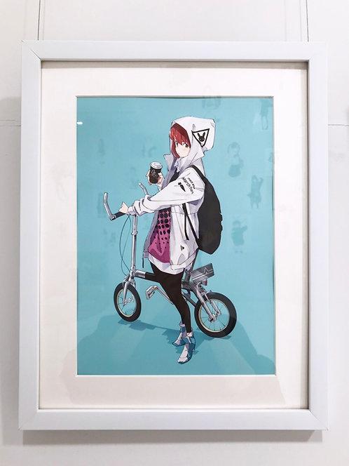 『自転車』複製原画(A4)