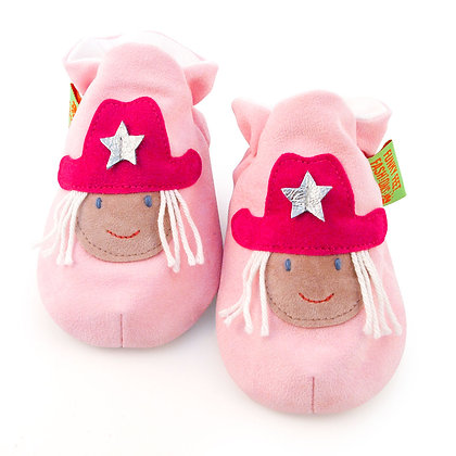 Funky Feet shoes - Cerise Cowgirl