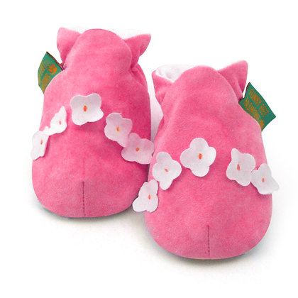 Funky Feet shoes - Cerise Daisy Chain