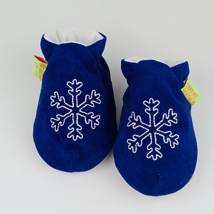 Funky Feet shoes - Blue Snowflake