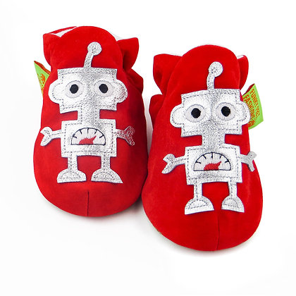 Funky Feet shoes - Robot Red+Silver