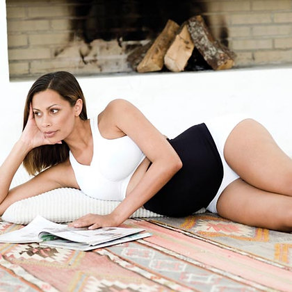 Pregnancy Support Belt (White / Black / Tan)