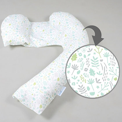NEW dreamgenii Pregnancy Support & Feeding Pillow (Nature Cotton - Grey Green)