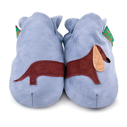 Funky Feet shoes - Blue Sausage Dog