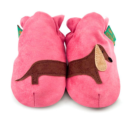 Funky Feet shoes - Pink Sausage Dog