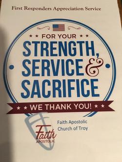 Strength, Service, & Sacrifice