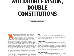 Not Double Vision, Double Constitutions