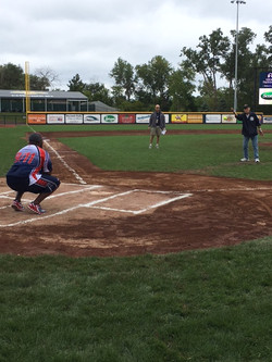 1st Pitch by WWII Vet Alfred Murphy