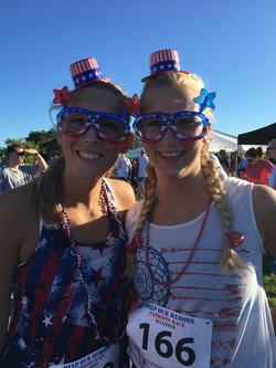 Patriotic & Ready for the Race!