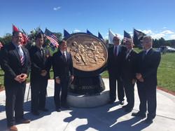Gathered around the Memorial
