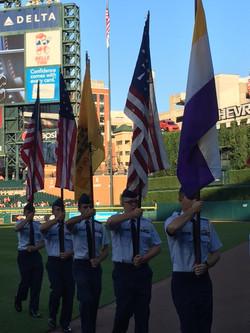 Presenting the Flags of Patriot Week