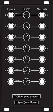 Eurorack 12HP 7-Channel Amplifier Attenu
