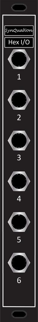 Eurorack 3HP Hex IO Expander Panel with