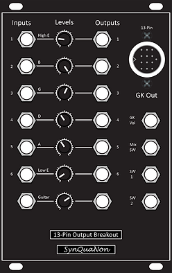 Eurorack 16HP 13-Pin Output Breakout v3.