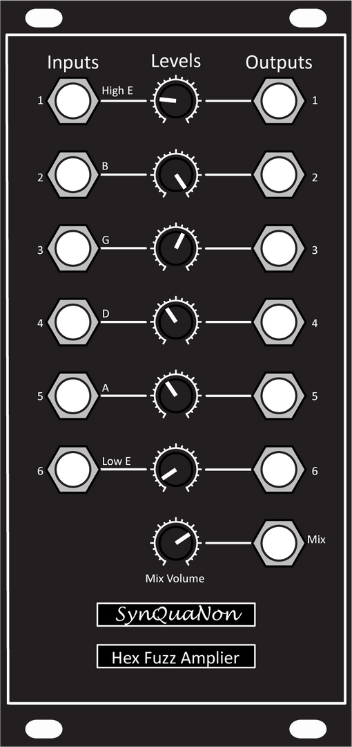 Hex Fuzz Amplifier Panel Trimmer Version