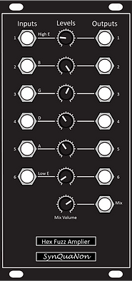 Eurorack 12HP Hex Fuzz Amplifier v1.1 Pa