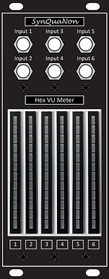 Eurorack 10HP Hex VU Meter v1.6 Panel wi