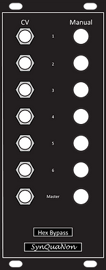 Eurorack 10HP Hex Bypass v1.0 Panel with Knobs 061521.png