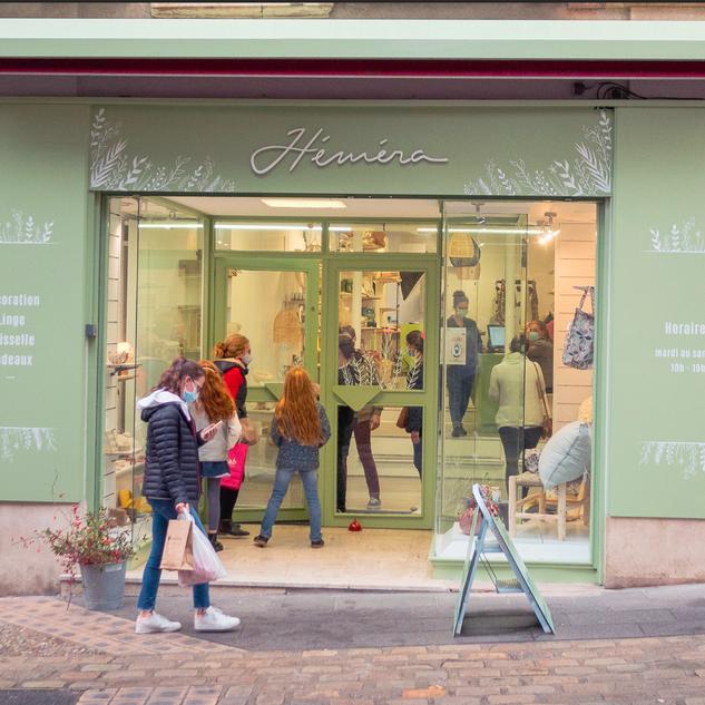 Vitrine de la boutique Héméra